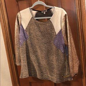 Tops - Multi pattern blouse